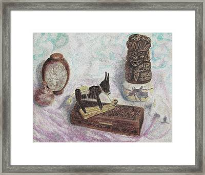 Stubborn Mule Framed Print by Suzanne  Marie Leclair