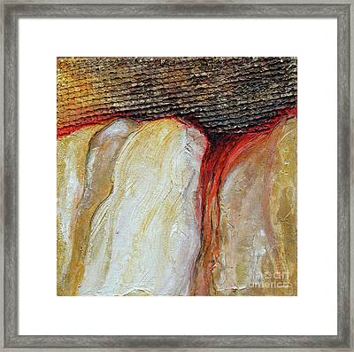 Framed Print featuring the mixed media Stucco Canyon by Phyllis Howard