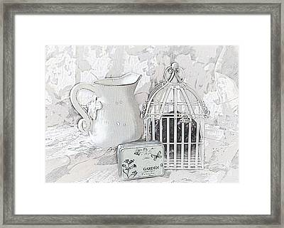 Stuck And All Alone Framed Print by Sherry Hallemeier