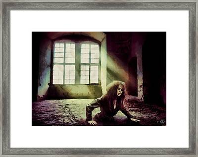 Framed Print featuring the digital art Stuck by Gun Legler