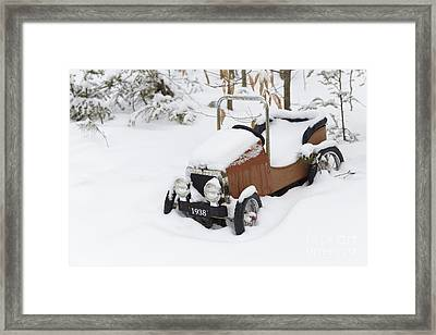 Stuck In A Snowstorm Framed Print