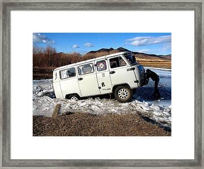 Stuck In Mongolia Framed Print