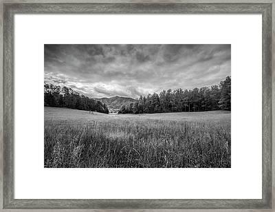 Stuck In The Field II Framed Print by Jon Glaser