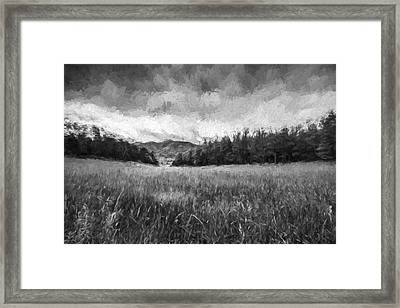 Stuck In The Field Iv Framed Print by Jon Glaser