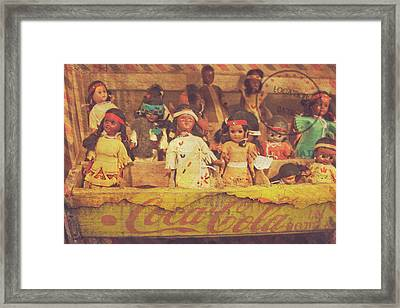Framed Print featuring the photograph Stuck In This Box With Nothing To Drink by Toni Hopper