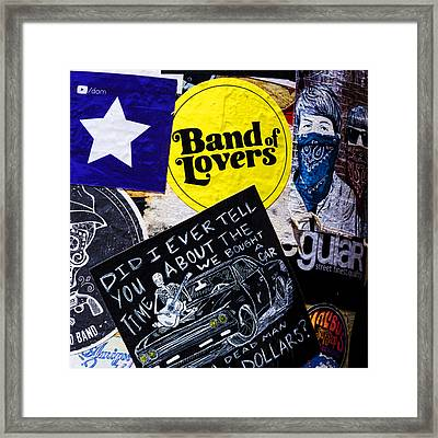 Stuck On Band 'aid' Framed Print by Stephen Stookey