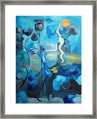 Stuck On Chill Framed Print by JaFleu