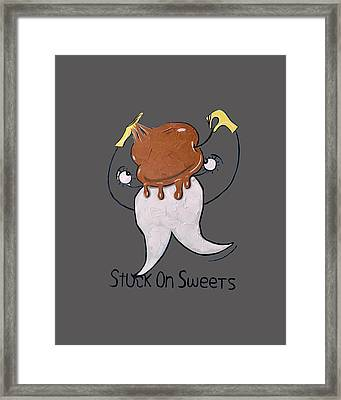Stuck On Sweets T-shirt Framed Print by Anthony Falbo