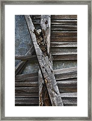 Stud And Lath Framed Print by Murray Bloom