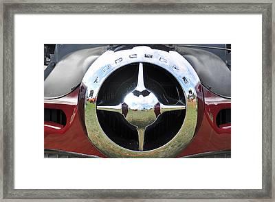 Framed Print featuring the photograph Studebaker Chrome by Glenn Gordon