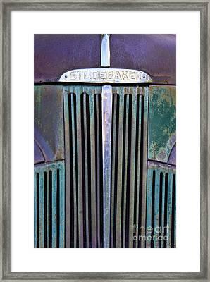 47 Studebaker Pick-up Grill Framed Print