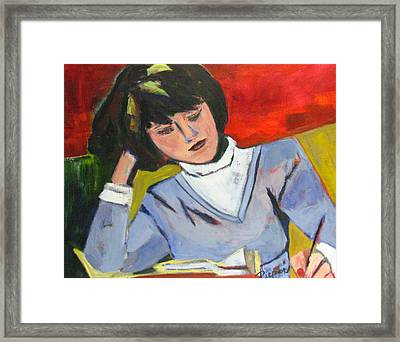 Student Framed Print by Betty Pieper