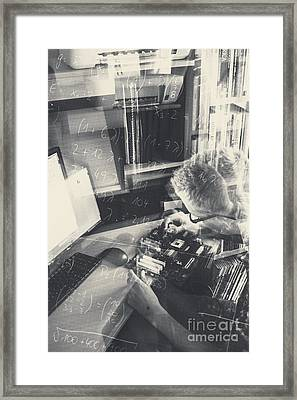 Student Engineer Building Model Circuitry Framed Print