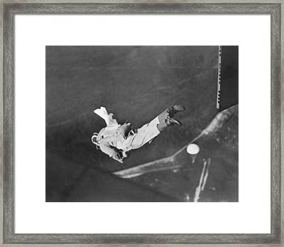 Student Parachute Rigger Framed Print by Underwood Archives