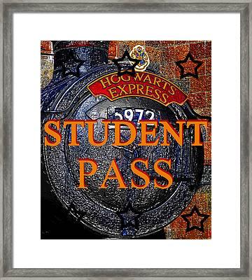 Student Pass Hogwarts Express Framed Print by David Lee Thompson