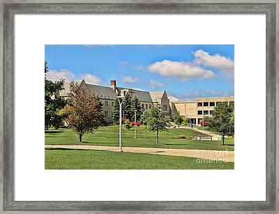 Student Union University Of Toledo  6208 Framed Print by Jack Schultz