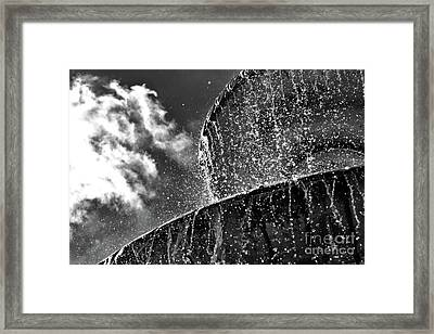 Students Fountain Framed Print by Juergen Klust