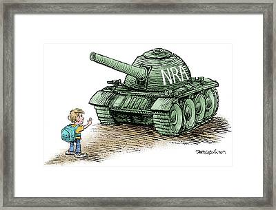 Students Vs The Nra Framed Print