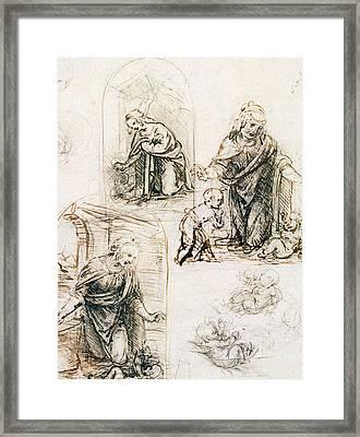 Studies For Nativity Framed Print
