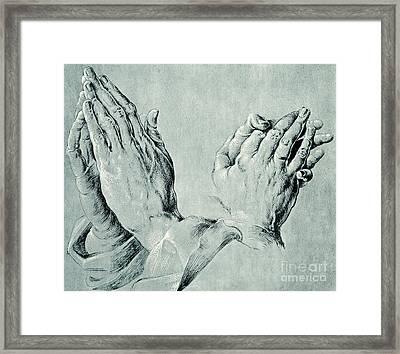 Studies Of Hands Framed Print