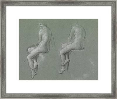 Studies Of The Nude Framed Print by Sir Edward John Poynter