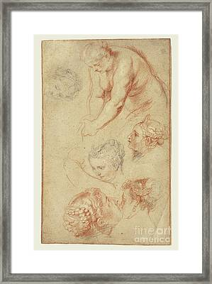 Studies Of Women By Peter Paul Rubens Framed Print by Esoterica Art Agency