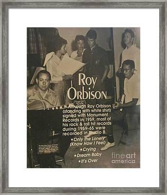 Studio B Roy Orbison  Framed Print by Chuck Kuhn