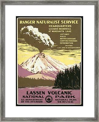 Studio Grafiikkalassen Volcanic National Park - Vintage Poster Framed Print