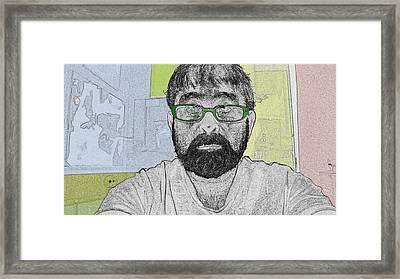 Studio Me Framed Print by Charlie Spear