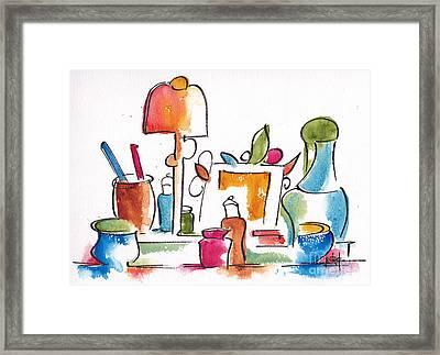 Studio Pals Abstract #9 Framed Print by Pat Katz