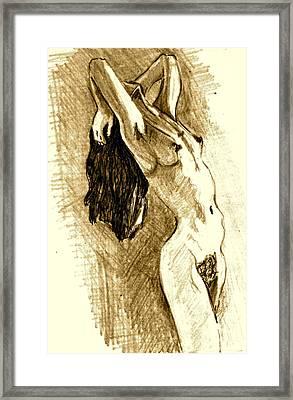 Studio Sketch Framed Print by Dan Earle