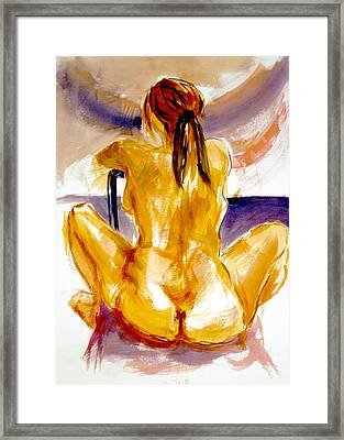 Studio Study In Watercolor Framed Print by Dan Earle