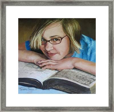 Study Break Framed Print by Jeanne Rosier Smith