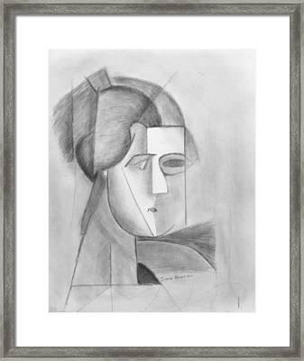 Study Diego Rivera Framed Print by Irena Bowren