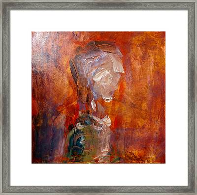 Study For 23rd Century Man, 2016 Framed Print by Original Art For your home