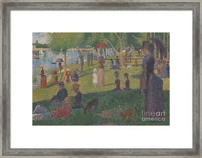 Study For A Sunday On La Grande Jatte, 1884 Framed Print by Georges Pierre Seurat