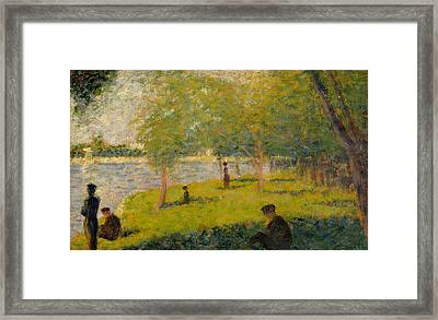 Study For A Sunday On La Grande Jatte Framed Print by Georges-Pierre Seurat