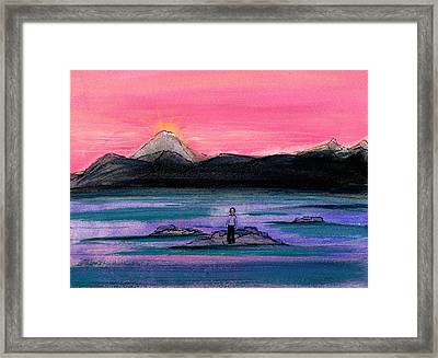 Study For A Sunset In A Foreign Land Framed Print by Gigi Sudbury