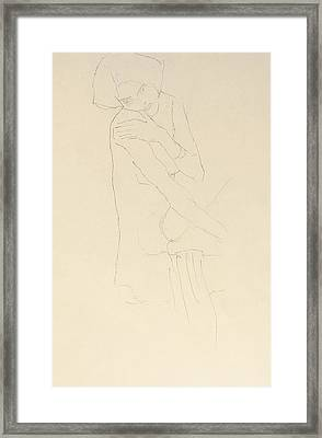 Study For Adele Bloch Bauer II Framed Print by Gustav Klimt
