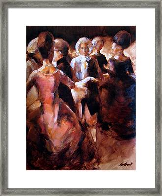 Study For At The Ball Framed Print by Stuart Gilbert