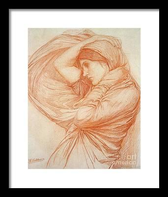 John William Waterhouse Drawings Framed Prints