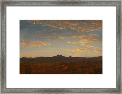 Study For Catskill Creek Framed Print by Thomas Cole