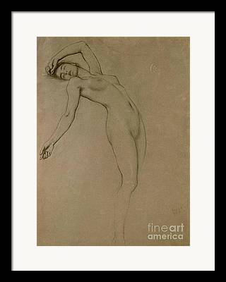 Feminine Drawings Framed Prints