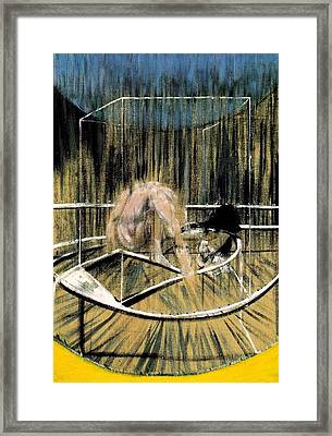 Study For Crouching Nude Framed Print by Francis Bacon