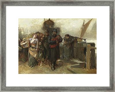 Study For Deserted  A Foundling Framed Print by Frank Holl