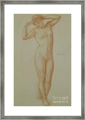 Study For Diadumene, 1881 Framed Print by Edward John Poynter