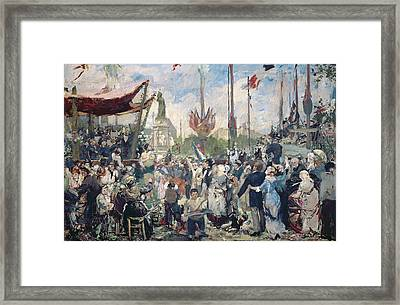 Study For Le 14 Juillet 1880 Framed Print by Alfred Roll