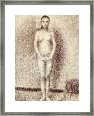 Study For Les Poseuses Framed Print by Georges Pierre Seurat