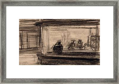 Study For Nighthawks Framed Print by Edward Hopper
