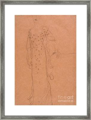 Study For Portrait Of Adele Bloch-bauer I Framed Print by Celestial Images